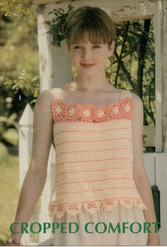 Ladies Cropped Tank Top Crochet Pattern