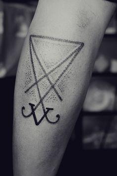 // Tattoo // Dot work! // V // triangle //