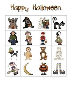 included are 25 different halloween bingo cards and one sheet of calling cards each bingo - Preschool Halloween Bingo
