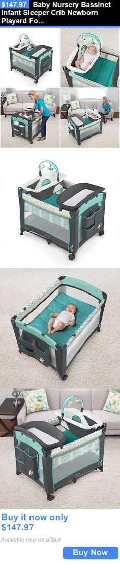 Baby Nursery: Baby Nursery Bassinet Infant Sleeper Crib Newborn Playard Folding Changing Table BUY IT NOW ONLY: $147.97