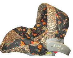 Tattoo Leopard Infant Car Seat Cover