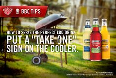 Planning a #LaborDay #BBQ? Put a 'Take One' sign on the cooler. #smirnoff