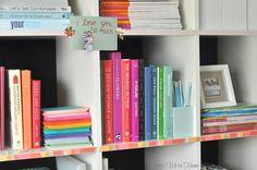 Washi Tape House Decorating / Decora tu casa Washi Tape Bookshelf