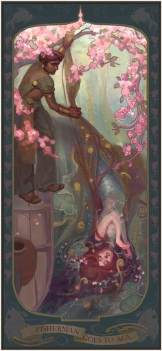 art nouveau beautiful