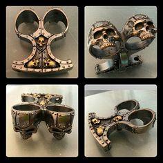 steampunk/ goth skull buster knuckle duster bottle by KickassPlugs