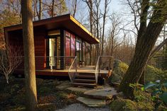 A 300 sq ft studio retreat in the woods designed for quiet contemplation.   www.facebook.com/SmallHouseBliss