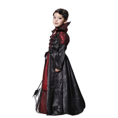 Jimall Girls Halloween Vampire Costumes Cosplay Party Performance Fanny Dress 1012 Years ** Want additional details? Click the image. (This is an affiliate link). Costume Halloween, Mode Halloween, Classic Halloween Costumes, Halloween Fashion, Halloween Vampire, Halloween Halloween, Girls Vampire Costume, Vampire Dress, Vampire Costumes