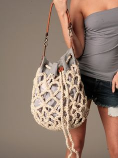Free People We The Free Railroad Rope Tote