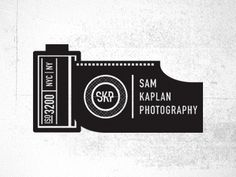 sam kaplan logo by sean ball. Best Photography Logo, Concept Photography, Photography Packaging, Logo Branding, Corporate Branding, Identity Design, Brand Identity, Film Logo, Camera Logo