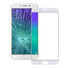 [$2.96] iPartsBuy OPPO R9 Plus Front Screen Outer Glass Lens(White)