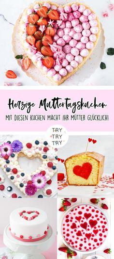 Herz-Torte zum Muttertag / #muttertag #herztorte #valentinstag Raspberry Mousse Cake, Mothers Day Cake, Muffins, Cereal, Food And Drink, Sweets, Baking, Breakfast, Desserts