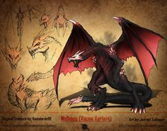 RWBY Bestiary (Apocryphal Records): Nidhogg by Demize00Zero on @DeviantArt