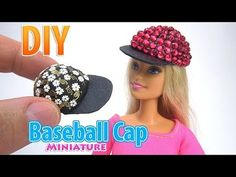 How to Make a mini Barbie Doll Cap. Mini Barbie Dolls, Barbie E Ken, Barbie Dress, Sewing Barbie Clothes, Barbie Sewing Patterns, Accessoires Barbie, Barbie Accessories, Doll Crafts, Baseball Cap