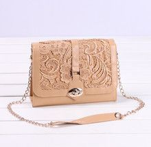 leather and lace purse