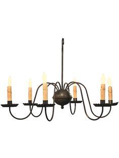 Vintage Lighting Fixtures. Cambridge 6 Light Wrought Iron Chandelier With Antique Black Finish