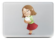 "2014 little girl series Vinyl Decal Sticker Skin for Apple MacBook Pro Air 11"" 13"" 15"" Laptop Skins free shipping"