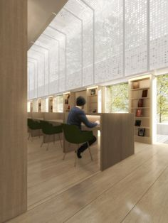 Endview perspective of the new Science Museum Research Center by Coffey Architects. Image courtesy of Coffey Architects