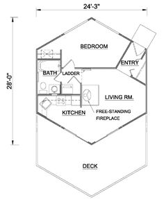 Hexagon homes are more logical save space when interlocking to