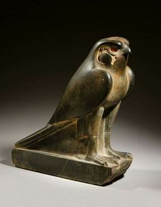 Granite falcon sculpture from the  Ptolemaic Period c.a. 332-30 B.C.