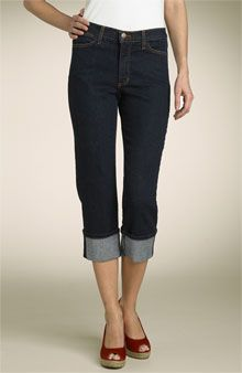 Another cute pair of denim capris.