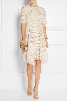 Lela Rose | Guipure lace and organza dress | NET-A-PORTER.COM