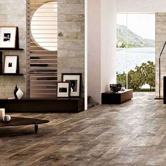 Driftwood – Curacao – The Cornwall Tile Company Wood Effect Floor Tiles, Wood Effect Porcelain Tiles, Tile Floor, Stone Interior, Modern Spaces, Marshalls, Driftwood, Natural Wood, Colours