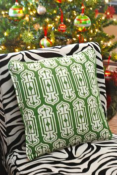 Spice up holiday decor with colorful pillows!  via Modern Palm  www.modernpalm.com