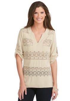 Birthday list Cato Fashions Lace Panel Tunic Top-#CatoFashions