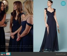 Spencer Hastings Fashion on Pretty Little Liars Pll Outfits, Tv Show Outfits, Fashion Outfits, Spencer Hastings Outfits, Spencer Pll, Pretty Little Liars Fashion, Navy Bridesmaid Dresses, Special Dresses, Formal Wear