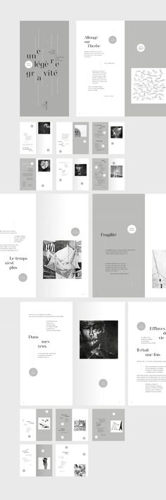-- if U like it, contact us at madproduction. -- A slight gravity - Editorial Design on Behance Layout Design, Web Design, Print Layout, Booklet Design Layout, Poster Layout, Mise En Page Portfolio, Portfolio Design, Portfolio Book, Brochure Layout