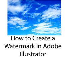 Create a Watermark in Adobe Illustrator