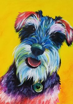 #TakeYourDogToWorkDay! Boss won't allow dogs? A pet portrait is the next best thing.  #paintyourpet #takeyourdogtowork #petportrait #anyonecanpaint