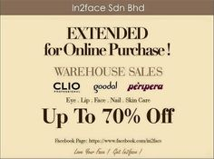 44e9eb52bdb2e4 6-14 Jul 2015  In2Face Warehouse Sale Extended for Online Purchase Online  Purchase