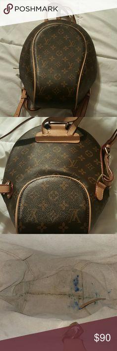 "Backpack brown Good quality backpack, measurements: W9"" x H12"" x D2.8""  Shoulder : 28.3 Strap drop : 12.6 Bags Backpacks"