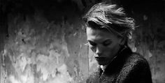 black and white animated GIF Jamie Campbell Bower