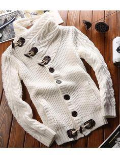 Forever Love Horn Buttons Sweater - WealFeel