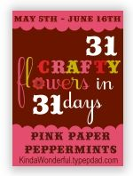 Rounded Petal Fabric Flowers | 31 Crafty Flowers in 31 Days- Day 23 - Pink Paper Peppermints | Christian Printables Bible Crafts Recipes Hom...