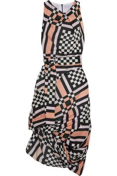Vivienne Westwood Anglomania | Eight draped printed cotton-voile midi dress | NET-A-PORTER.COM