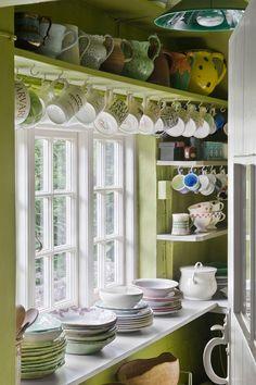 English Cottage Dish Storage.