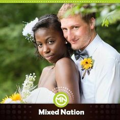 """#MixedNation ....    Londone shared... """"Hi! My husband and I just got married on July 25!!! We currently live in the Deep South and despite all of the very prevalent racism, we are happily in love and can't wait to start a family of beautifully blended babies. Love who you want! Be brave! God Bless!"""" -"""