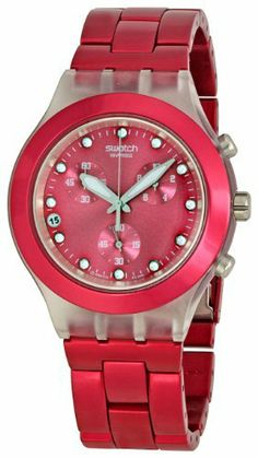Swatch Men's STSVCK4050AG FW2010 Raspberry Dial Watch Swatch. Save 28 Off!. $122.06. Case diameter: 42 mm. Water-resistant to 99 feet (30 M). Plastic. Quartz movement. Durable acrylic crystal protects watch from scratches
