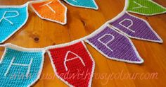 Flushed with Rosy Colour: Bunting Flags, free pattern