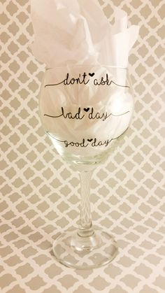 How was your day? - Wine Glass by LowTideCrafters on Etsy