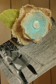 burlap flowers  - What a cute and easy idea!!
