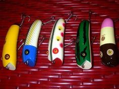These are labeled Japanese punk rock fishing lures. I'm not sure what makes them punk rock, but they are kinda strange. You can buy them here, if you can read Japanese.