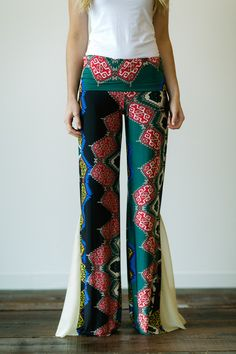 Flared Pants Gaucho Bottoms Bohemian Palazzo by ThreeBirdNest