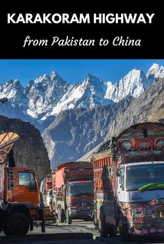 The Karakoram Highway is one of the most epic road trips in the world. A road that links Pakistan with China, this article is a comprehensive travel guide that will help you to plan your journey along the KKH Cool Places To Visit, Places To Travel, Travel Destinations, Travel Stuff, Karakoram Highway, Travel Around The World, Around The Worlds, Pakistan Travel, Iran Travel