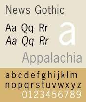 Bilderesultat for news gothic font