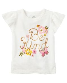 Be kind Shirt with crochet lace shorts