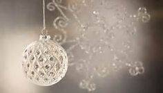 Silver christmas ornament and snow flake